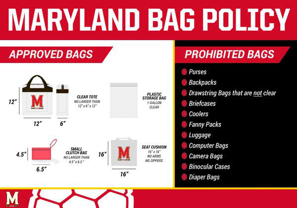 clear bag policy university of maryland athletics